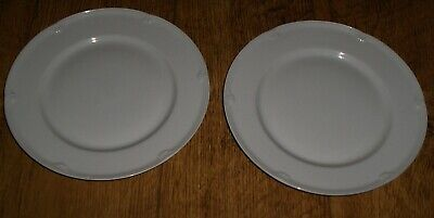 Pair 2 Marks & Spencer St Michael Stamford 8  Side Bread Plates 2233 Porcelain • 4.99£