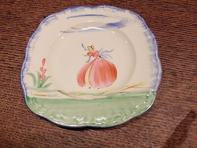 Set Of 4 Art Deco 1920s Hand Painted Crinoline Lady Tea Plates By Alfred Meakin  • 24£