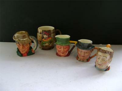 Assortment Of Character Jugs By Beswick And Royal Doulton. • 24£