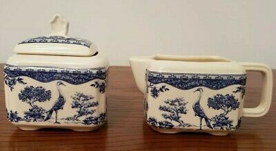 Wade Blue And White Chinese Bird Pattern Jug, Lidded Dish • 0.99£