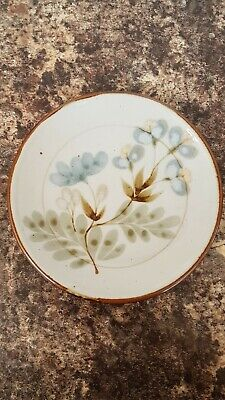 Lovely Scottish Studio Pottery Floral 8  Plate Highland Stoneware Lochinver • 8£