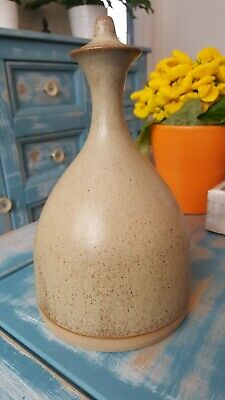 VINTAGE TREMAR POTTERY STONEWARE Decanter Bottle With Stopper CORNISH STUDIO  • 25£