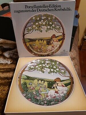 Heinrich Villeroy & Boch 7in Plate Depicting Spring • 2.49£