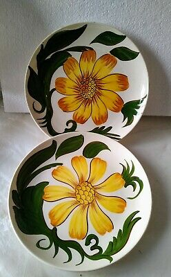 Sunflower Plates X 2 Royal Victoria Wade England Pottery, 2 Plates, 9.5inch • 5.99£