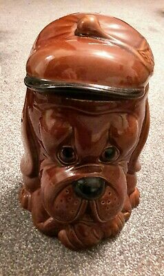 Bassett Hound Biscuit Jar Pottery Ceramic Price And Kensington With Lid England • 1.20£