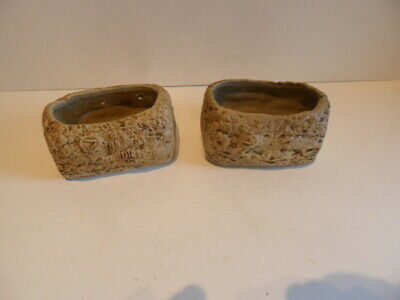 Super Pair Of Small Vintage Vitry Ware Stoneware Pottery Planters • 2.99£