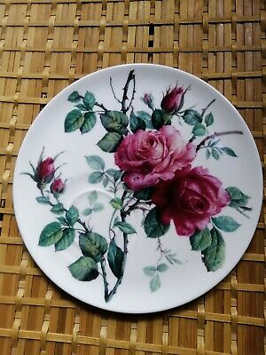 Roy Kirkham ~ Redoute Roses 8  Salad Plate In Excellent Condition • 4.60£