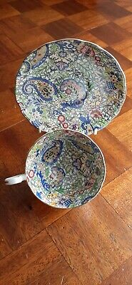 Radfords Bone China Blue Paisley Cup And Saucer.  • 15£