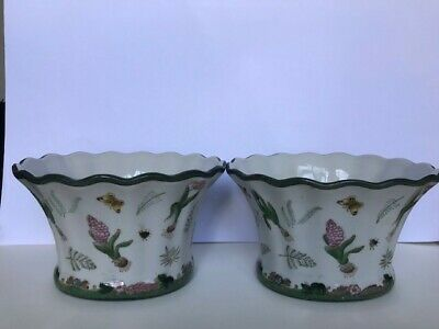 Pair Of Ceramic Planters Jardiniere Plant Pots Chinese • 17.80£