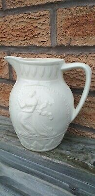 """Leedsware Classic Creamware Jug 6"""" With Factory Backstamp Made In England  • 3.99£"""
