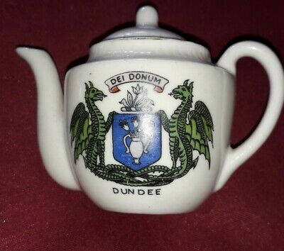 Dundee Crested Ware Tea Pot • 3£