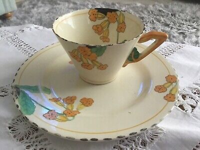 Burleigh Art Deco Zenith Shape Meadowland Cup And Plate • 5.80£