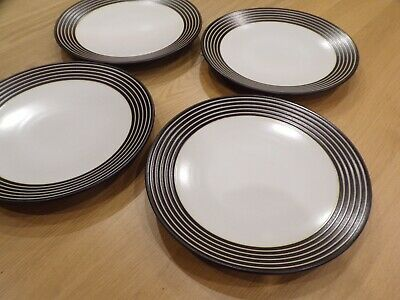 Denby Dinner Plates X4 Intro Stripes Approx 11  Diameter Super Condition • 9.50£