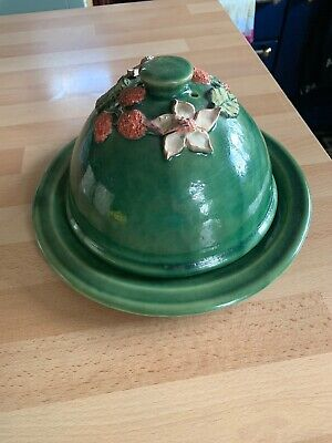 Studio Pottery Cheese Dome And Plate  • 12.99£