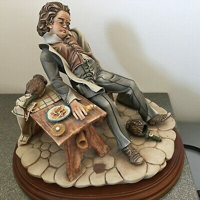 Large CAPODIMONTE Figurine By Maria Angela Of A Doctor - Certificates • 30£