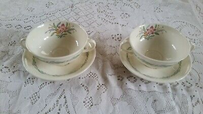 2 Royal Doulton Fairfield Soup Coupes And Saucers • 4.99£