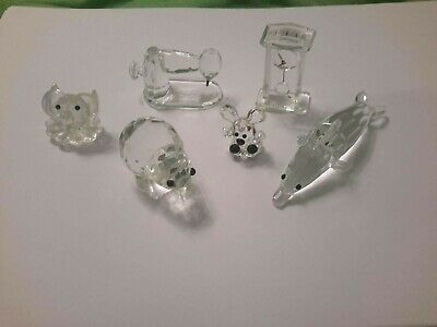 Miniature Glass Figures Animals Objects Collectable • 6.99£