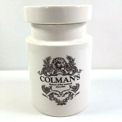 Colemans Lidded Storage Jar The Mustard Shop Lord Nelson Pottery Norwich England • 12£