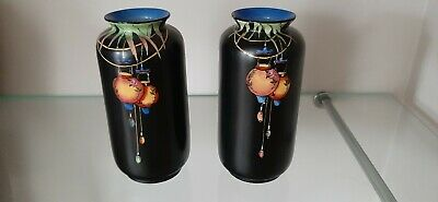 Crown Ducal Chinese Lantern Carnival . Pair Of Vases • 60£