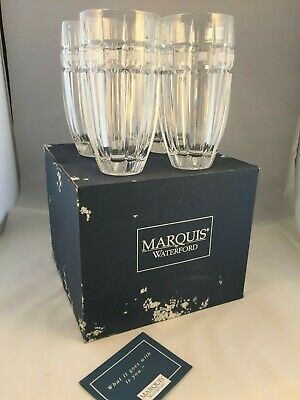 MARQUIS BY WATERFORD HI-BALL CRYSTAL Glasses (4) • 35£