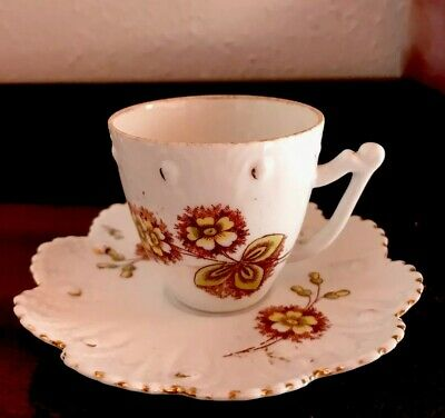 Old Vintage Mini Miniature China Cup And Saucer • 8.99£