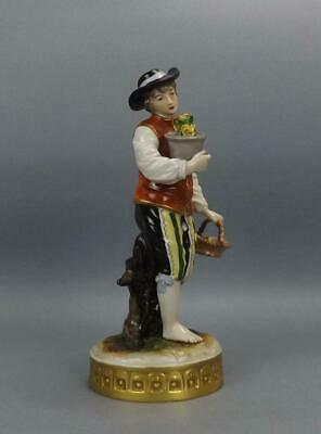 Antique Porcelain German Dresden Figurine Of Young Man With Flowers By Volkstedt • 0.99£