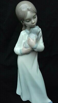 Nao Porcelain Figure Of A Girl Holding A Puppy Dog • 9.99£