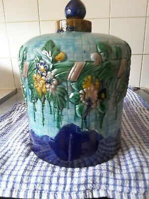 Vintage Majolica Floral  Cheese Dome No Plate • 50£