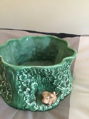 VINTAGE LARGE SYLVAC BOWL PLANTER No 2062 With Dogs • 22£