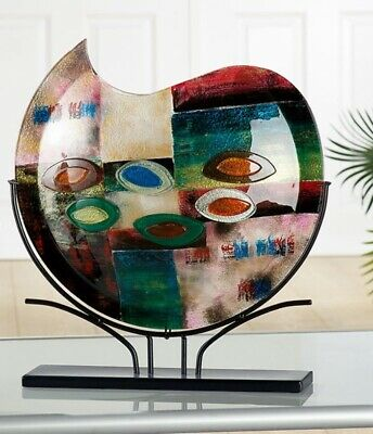 AMAZING! Gigantic Art Glass Abstract Deep Space Solar System Vase On Stand • 34£