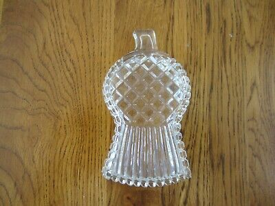 Antique Glass Thistle Shaped Trinket Dish Excellent Condition • 0.99£