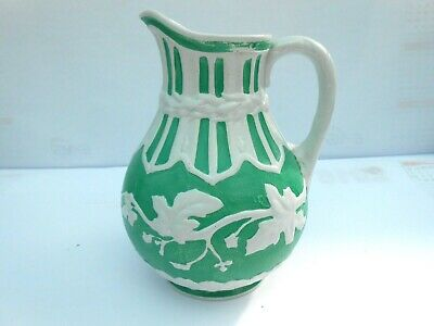 A 19th C Relief Moulded Jug In Vine Pattern By Powell & Bishop. • 35£