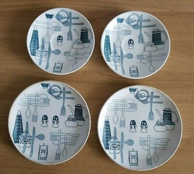 Set Of Four Fiesta Royal Tudor Ware Dishes- Circa 1950's • 4£