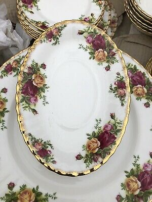 ROYAL ALBERT OLD COUNTRY ROSE GRAVY BOAT UNDER  STAND First Quality • 9.99£