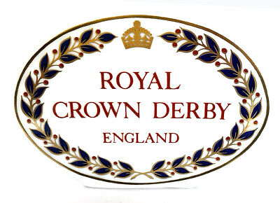Royal Crown Derby Paperweight Retail Display Sign • 31.95£