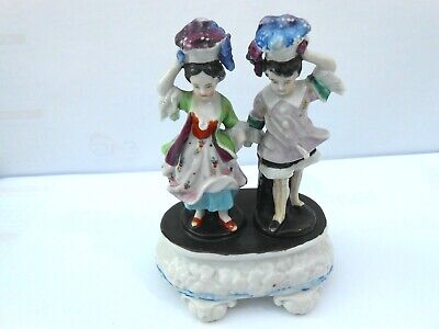 A 19thc Porcelain Figure Group Of Two Flower Sellers  • 15£