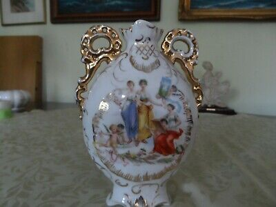 Vintage Bone China Beautiful Vase With Gilding And Miniature • 7£