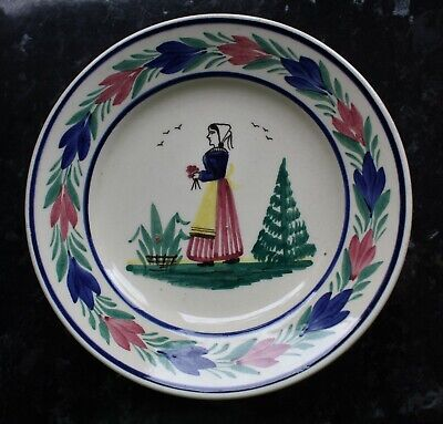 Quimper French Faience Tea Plate 6.25  • 7.99£