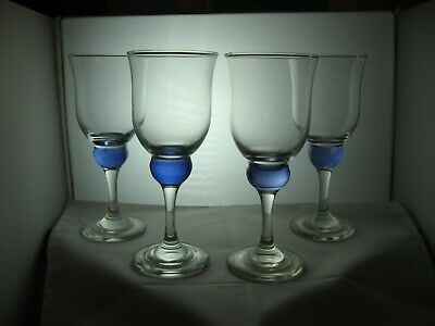 PAIR OF 2 HANDPAINTED WINE GLASSES TO MATCH DENBY IMPERIAL BLUE - More Available • 10£