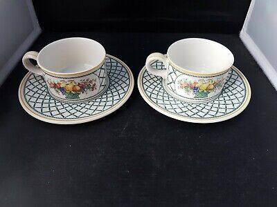 Villeroy & Boch - Basket - Tea Cups & Saucers  X 2 -  • 19.99£