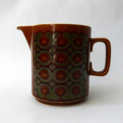 Hornsea Pottery 1975 BRONTE Tall Large Jug/pitcher. Vintage. Gravy, Cream, Water • 11.99£