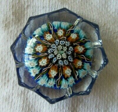 Vintage Millefiori Star Paperweight - VASART Made In Scotland - 2½  • 29.99£