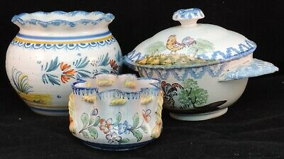 A Selection Of French Faience, Including A Henriot Quimper Pot Decorated With... • 40£