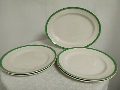 Vintage Solian Ware Soho/Simpsons Pottery Cobridge - Queen's Green Plates • 29.99£