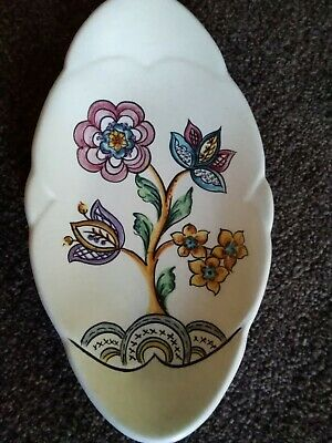 Vintage Axe Vale Pottery Devon England Decorative Dish • 37.99£