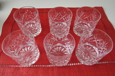 Set Of 6 Royal Doulton Cut Crystal Whisky Tumblers Glasses  • 50£