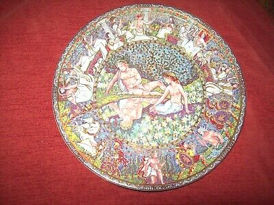 Royal Worcester Narcissus & Echo Mosaic Plate - 21 Cm • 6£