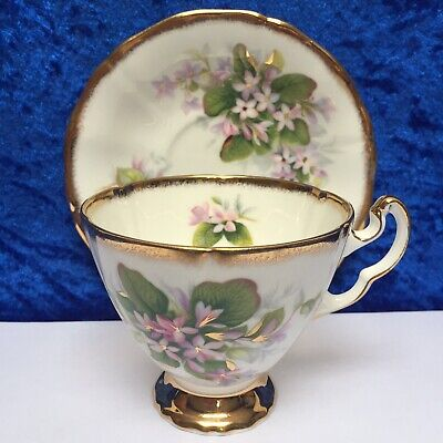 ROYAL ADDERLEY China 'Mayflower' Canadian Provincial Flowers, Cup & Saucer VGC • 9.99£