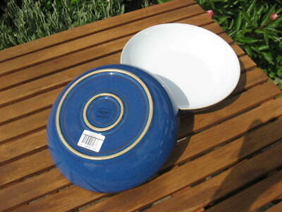 NEW DENBY IMPERIAL BLUE PASTA BOWLS X 2 - FIRST QUALITY WITH LABELS • 28£