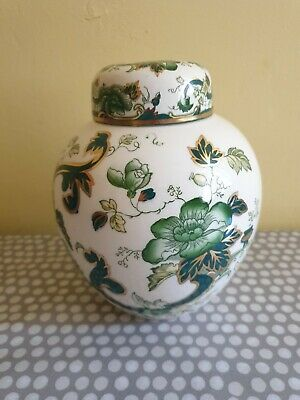 Masons Ironstone  Green Chartreuse  17.5cm Tall Ginger Jar • 15£